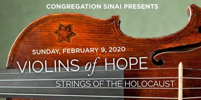 "Congregation Sinai presents ""Intonations: Songs from the Violins of Hope"""