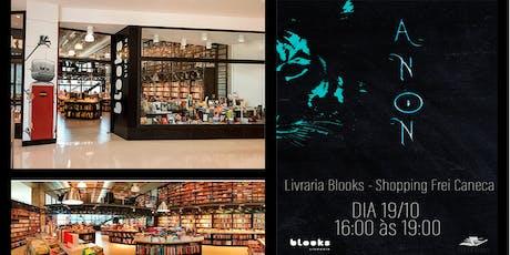 """Lançamento do Livro """"Anon"""" por Lilian S. Bastidas ingressos"""