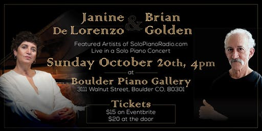 A Solo Piano Concert with Brian Golden & Janine De Lorenzo