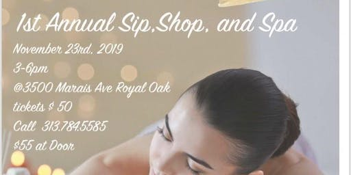 Sip, Shop, and Spa Event