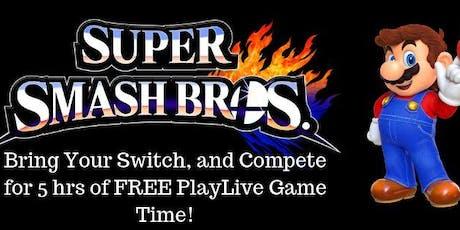 Super Smash Bros. Competition: $10 tickets