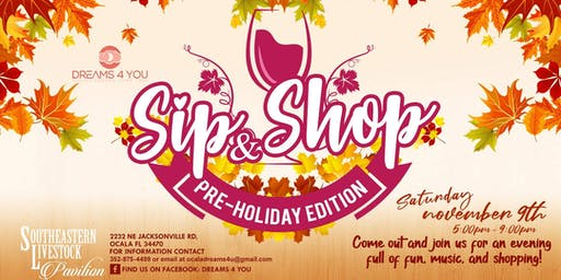Sip & Shop Pre-Holiday Edition