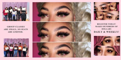 MINK LASH TRAINING - CLASSIC OR VOLUME - 2 IN 1 TRAINING - HANDS ON tickets