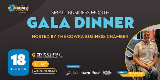 Cowra Small Business Month Gala Dinner Feat. Ben Houlison