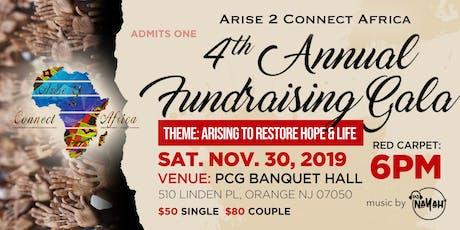 AriseToConnectAfrica 4th annual fundraising gala tickets