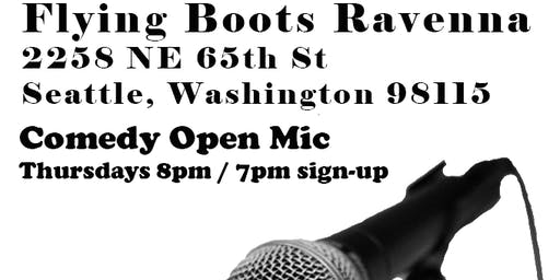 Comedy Open Mic at Flying Boots Ravenna