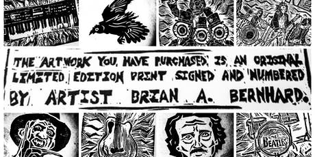 ART OPENING: The Block Printing Show by Brian A. Bernhard! tickets