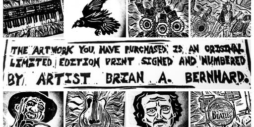 ART OPENING: The Block Printing Show by Brian A. Bernhard!