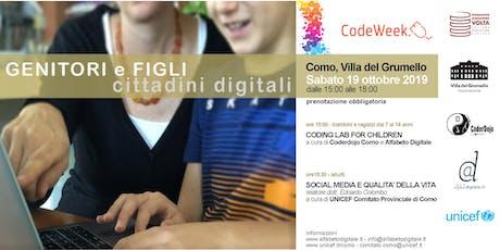 Genitori e figli: cittadini digitali biglietti