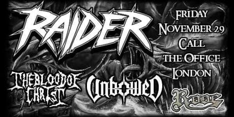 Raider w/ The Blood of Christ & Unbowed tickets