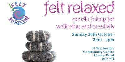 Needle Felting Pebbles Workshop