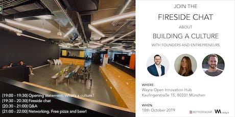 Fireside chat: Building a culture - Free Pizza and Beer! Tickets