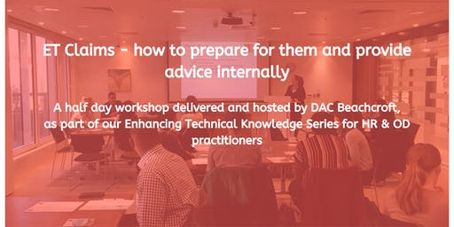 ET claims – how to prepare for them and provide advice internally
