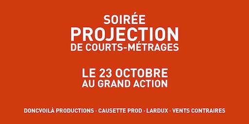 Soirée projection Doncvoilà productions, Causette Prod, Lardux Films et Vents Contraires
