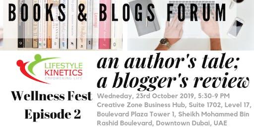 "WELLNESS FEST2: ""BOOKS & BLOGS FORUM""  An Author's"
