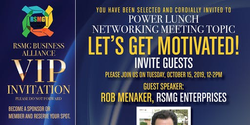 VIP Networking Event: Let's Get Motivated