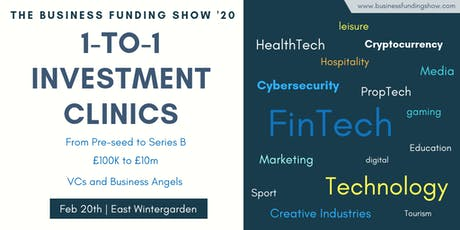 1-to-1 Investment Clinics at BFS'20 tickets