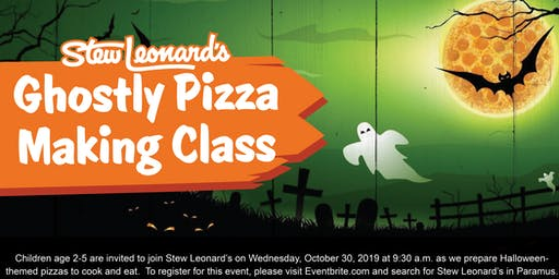 Ghostly Pizza Making Class for Toddlers at Stew Leonard's