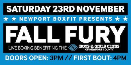 Newport Boxfit Fall Fury Exhibition Boxing tickets