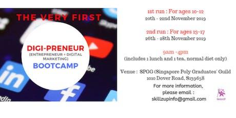 DIGI-PRENEUR BOOTCAMP : The very first Entrepreneurship + Digital Marketing) -1st run tickets