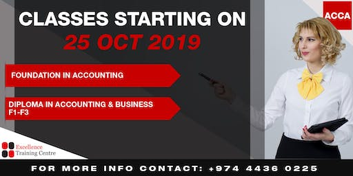 Classes in Foundation in Accounting and Diploma in Accounting & Business