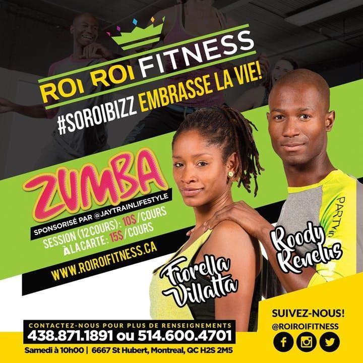 Roi Fitness -Cours Zumba Gratuit