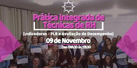 CURSO PRÁTICA INTEGRADA DE TÉCNICAS DE RH ingressos