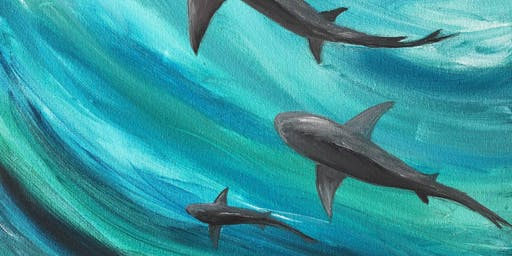 Brush Strokes For the Bays at Cowfish: Paint Nights for a Purpose! ~Sharks