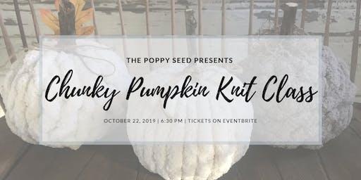 Chunky Knit Pumpkin Class
