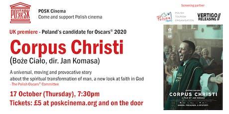 POSK Cinema #4: Corpus Christi - Poland's candidate for Oscars 2020 tickets