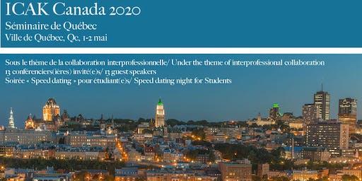 Congrès canadien de kinésiologie appliquée  2020/AK annual meeting 2020