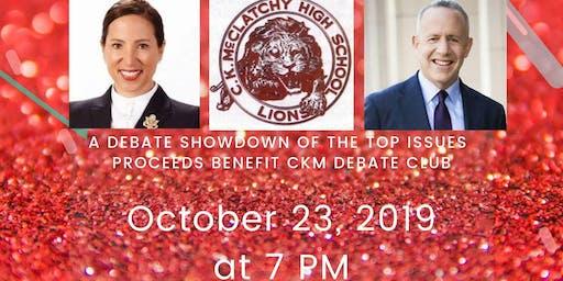 CKM Debaters vs CA Lt.Gov. and Mayor Steinberg