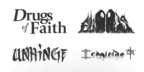 Drugs of Faith, Floods, Unhinge, Iconicide tickets