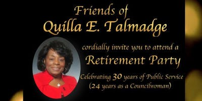 Retirement Party in Honor of Quilla E. Talmadge