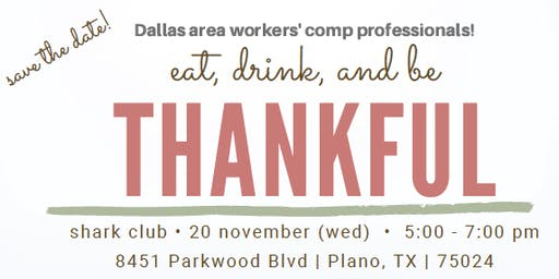 Plano Work Comp Networking Event 2019