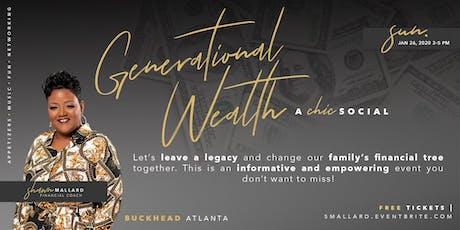 Generational Wealth - The Best Kept Secret (New Year Mindset) tickets