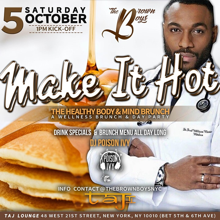 """Brown Boys Brunch """"Hot Boy Wellness Day Party"""" image"""