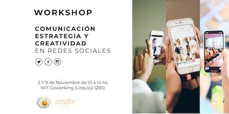 Comunicación, estrategia y creatividad para redes sociales. entradas