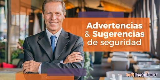 """""""ADVERTENCIAS Y SUGERENCIAS DE SEGURIDAD  SOFT RESTAURANT"""" - GDL"""