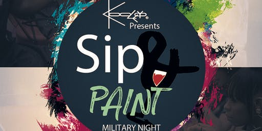 Sip N Paint Military Night