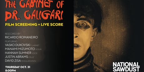 The Cabinet of Dr. Caligari screening + live score tickets
