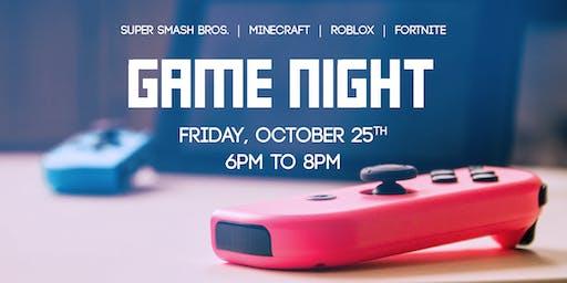 GAME NIGHT | October 25