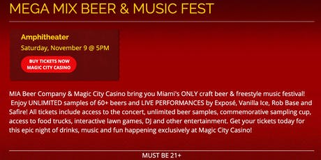 Mega Mix Beer and Must Fest tickets