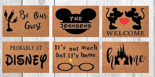 Disney Welcome Mat Painting 11/9