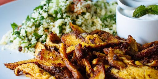 Syrian Cuisine: Chicken Shawarma & Tabouli