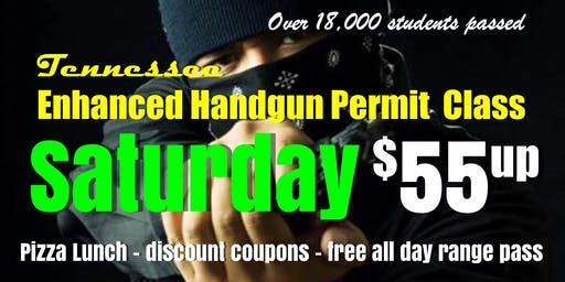 Saturday Handgun Carry Permit Class w/Pizza & Range Pass