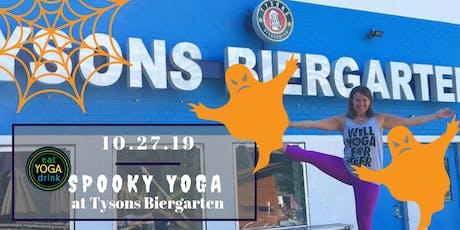 Spooky Yoga at Tysons Biergarten tickets
