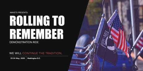 "AMVETS' ""Rolling To Remember"" Demonstration Ride tickets"