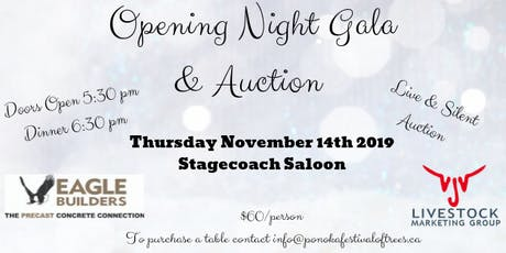 Opening Night Gala & Auction tickets