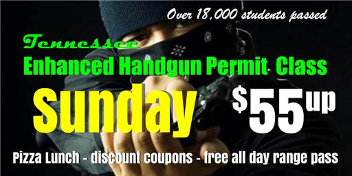 Sunday Handgun Carry Permit Class w/Pizza & Range Pass